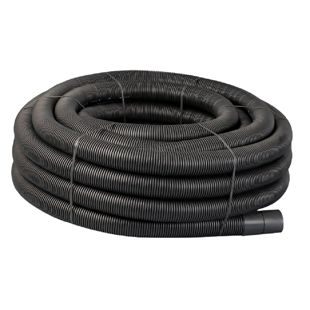 Black Perforated Land Drain 80mm x 100mtr Coil Ref 68036