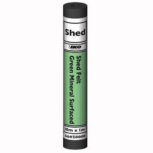 Green Mineral Shed Felt 20kg X 10mtr Roll