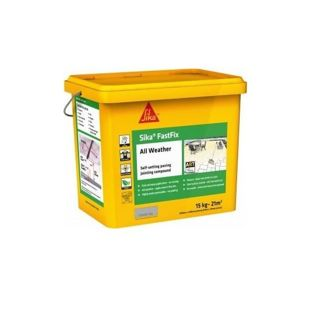 Sika Fastfix All Weather Paving Jointing Compound Grey 14Kg Ref SKFFIXGY14